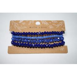 Armband 4 x blauw