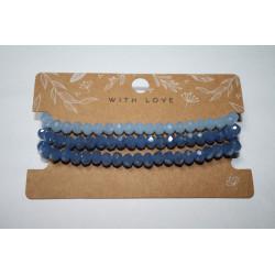 Armband 3 x blauw kralen