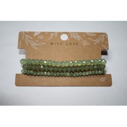 Armband 3 x groen kralen